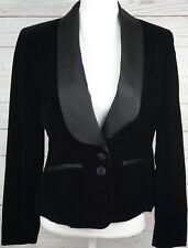 Bloomingdales Womens Pant Suite Velour Blazer Size 6 $386