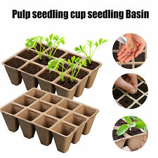 10x Nursery Basin Plant Growing Tray Garden Supplies Paper Herb Flower Grass Cha
