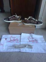 Christian Louboutin Gondolastrass Pink-Burgundy Sneakers Size 7/37 NWB $1295