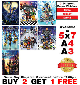 Kingdom Hearts Poster Video Game Poster Art Print Wall Home Room Decor