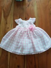 Girls pink polka dot jasper conran dress age 0-3 months new without tags