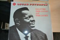 OSCAR PETERSON   SALUTES THE COUNT AND THE DUKE    LP   VERVE RECORDS  VLP 9133
