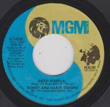 Donny & Marie Osmond {70s Pop Rock} Deep Purple / Take Me Back Again ♫hear mp3