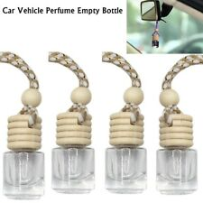 Car Hanging Air Freshener Perfume Fragrance Diffuser Empty Glass 5Pcs Bottle