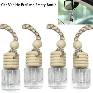 5x Glass Bottle  Car Diffuser Hanging Air Freshener Perfume Fragrance Empty Home