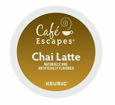 Cafe Escapes Chai Latte 24 to 144 Keurig K cup Pods Pick Any Size FREE SHIPPING