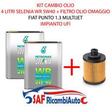 FILTRO OLIO FIAT PUNTO 1.3 MJET + 4 LITRI OLIO SELENIA WR 5W40 MPIANTO UFI