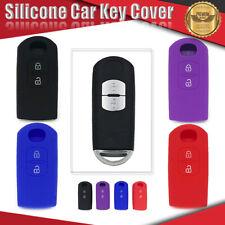 Silicone Car Key Cover Fits For MAZDA 2 3 6 MPS SP25 CX3 CX5 CX7 CX9  *2 Button*