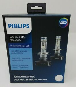 Philips LED X-tremeUltinion H4 Headlights H4XULED 2 Pack