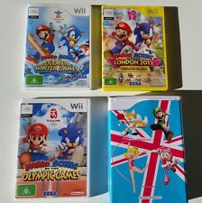NINTENDO Wii -MARIO & SONIC AT OLYMPIC GAMES BUNDLE LONDON BEIJING +WINTER GAMES