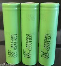 "Brand New ""3"" Samsung ICR18650 3.7V 3000mAh Li-on Rechargeable Battery,18650 30B"