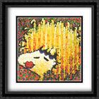 Bird Lips in a Blonde Bombshell Wig 2x Matted 28x40 Framed Art by Tom Everhart
