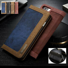 Credit Card Holder Luxury Leather Flip Case Wallet Cover For iPhone 6s 7 PLUS 5S