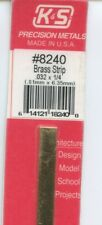 New listing 12 in Brass Strip 1/4x4/125in (6.35x0.81mm) K&S Engineering #8240 New