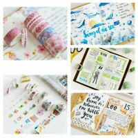 10 Rolls Decorative Washi Tape Masking Adhesive Paper Album Sticker Craft Gifts