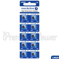 10 x everActive AG4 LR66 Alkaline batteries LR626 L626 177 1.5V GREAT VALUE