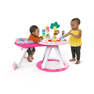 Bright Starts 2-in-1 Around We Go Baby/Infant Activity Center Table Tropic Coral