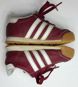 Kids Toddler Adidas Shoes Size 6k Ortholite Leather Sneakers Red Adorable