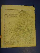 Hand-Colored Map/General Karte vom Europaischen Russland und den Kaukastschen