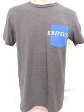 Samsung T Shirt Mens Size Small Gray / Blue Cotton Blend Cell Phone Free Ship