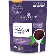 Organic Maqui in Polvere Tart Berry da Navitas Organics 85 G-Super Alimento liofilizzato