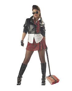 Sexy Rebel École Fille Adulte Femmes Déguisement Halloween L
