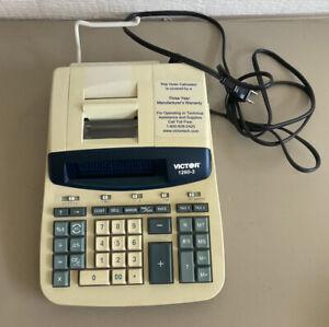 Victor 1260-3 Printing Calculator Thermal Printing, Vintage Calculator Printer