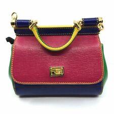 2ab62a885655 Dolce & Gabbana Vitello Stampato Pink Multi Colored Mini Cross Body Bag  BB5999