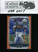 2014 Topps Chrome Orange Refractor #14 Reggie Wayne (Indianapolis Colts)