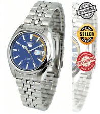 Seiko 5 Automatic SNK371 SNK371K1 Men Day Date Blue Dial Stainless Steel Watch