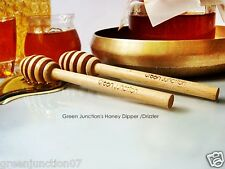 Green Junction's Steam Beechwood Honey Stick /Drizzler - High Quality - 2pc