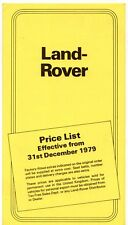 Land Rover Series III Prices & Optional Extras 1980 UK Market Foldout Brochure