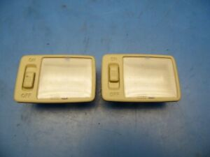 04-06 Toyota Prius OEM pair of interior dome map lights lamps x2 *tan