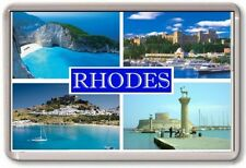 FRIDGE MAGNET - RHODES - Large - Greece TOURIST