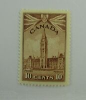 1942 Canada SC #257 PARLIAMENT BUILDINGS 10 cent  MNH stamp F-VF