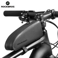 RockBros Road Bike Waterproof Cycling Portable Front Tube Frame Bag Black Size M