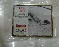 1924 Kodak Olympic Historical Pin Johnny Weismiller