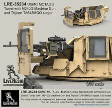 Live Resin 1/35 USMC MCTAGS Turret with M240G MG and Scope