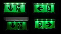 LED Notleuchte Notbeleuchtung IP20 Notausgang Fluchtwegleuchte Licht Fluchtweg