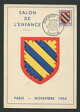 France Mk 1954 emblema Nivernais Blazon maximum tarjeta Carte maximum card mc d3913