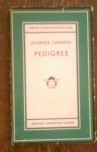 GEORGES SIMENON - PEDIGREE ,1954 PRIMA EDIZIONE