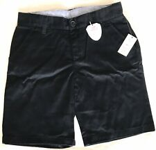 gap kids shield girls uniform cotton bermuda chino shorts navy sz 16 slim