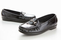 SAS Tripad Comfort Womens Black Leather Slip On Loafers Size 9.5M EUC 1124