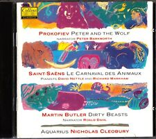 Prokofiev Saint-Saens/ Butler/ Cleobury CD 1990 Peter And The Wolf/Dirty Beasts