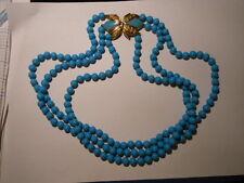 Collana pasta di vetro susta con smalti e strass vintage glass necklace  ^