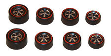 8 Brightvision Redline Wheels – 2 Lg, 4 Med & 2 Sm Deep Dish Bright Chrome Style