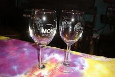 MOSI Art Gallery EINSTIEN ON WINE Etched Wine Glass Set Of 2 Wine Glasses