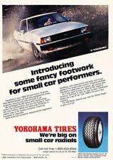 1981 Toyota Corolla Yokohama Tire Original Advertisement Print Art Car Ad K30