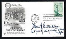 Othmar Ammann signed cover George Washington Bridge Designer structural engineer