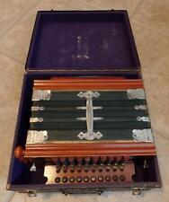 X-Rare German c1885 Adolphus Professional Accordion In Case Excellent Steel Reed